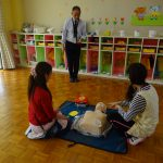 AEDを使った心肺蘇生講習